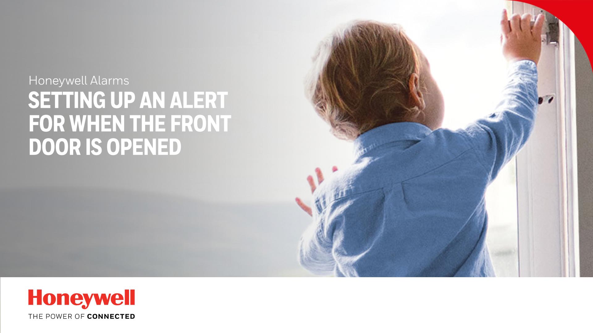 Configuration d'une alerte lorsque la porte d'entrée est ouverte (sans déclencher l'alarme)