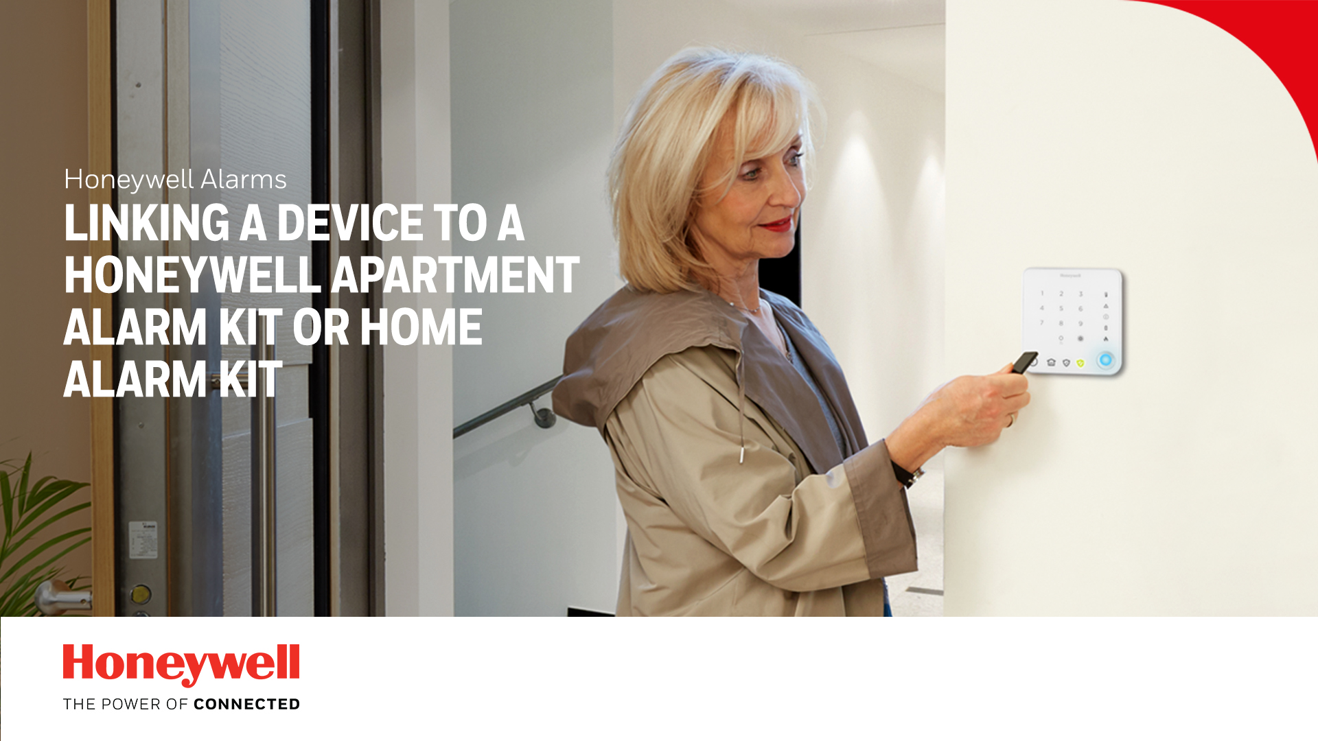 Enlace de un dispositivo a los kits de Honeywell Apartment Alarm Kit o Home Alarm Kit