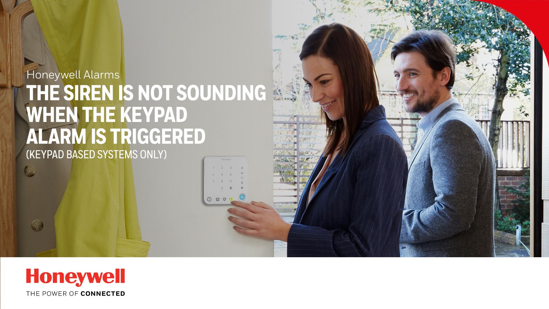 La sirène n'émet aucun son lorsque l'alarme du clavier numérique est déclenchée (uniquement pour les systèmes à clavier numérique).