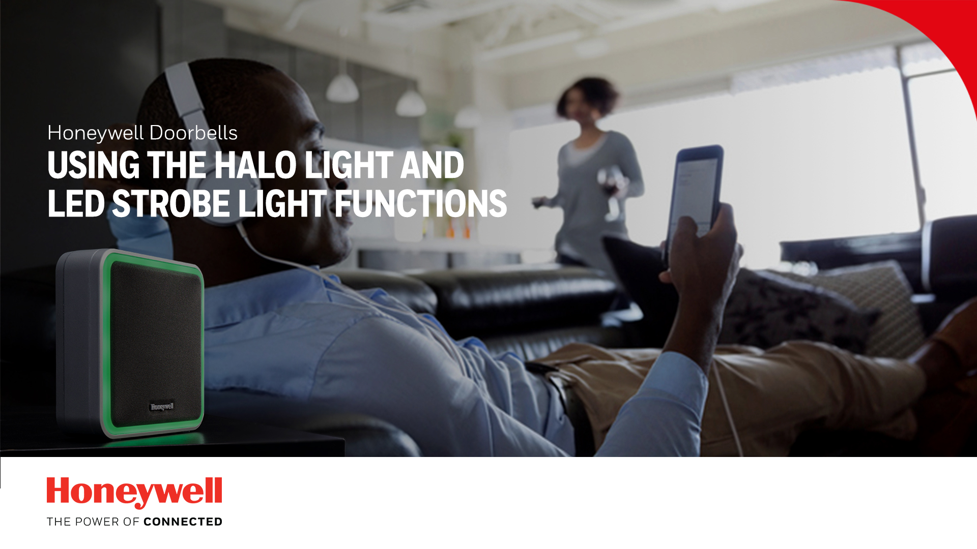 De Halo-verlichting en flitslamp gebruiken