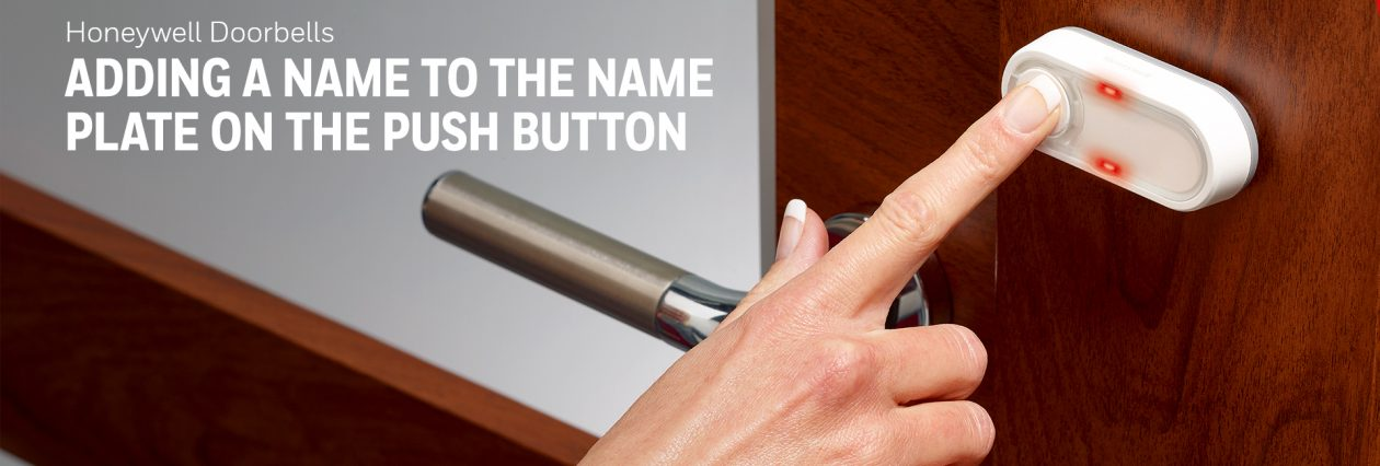 Adding your name to the push button
