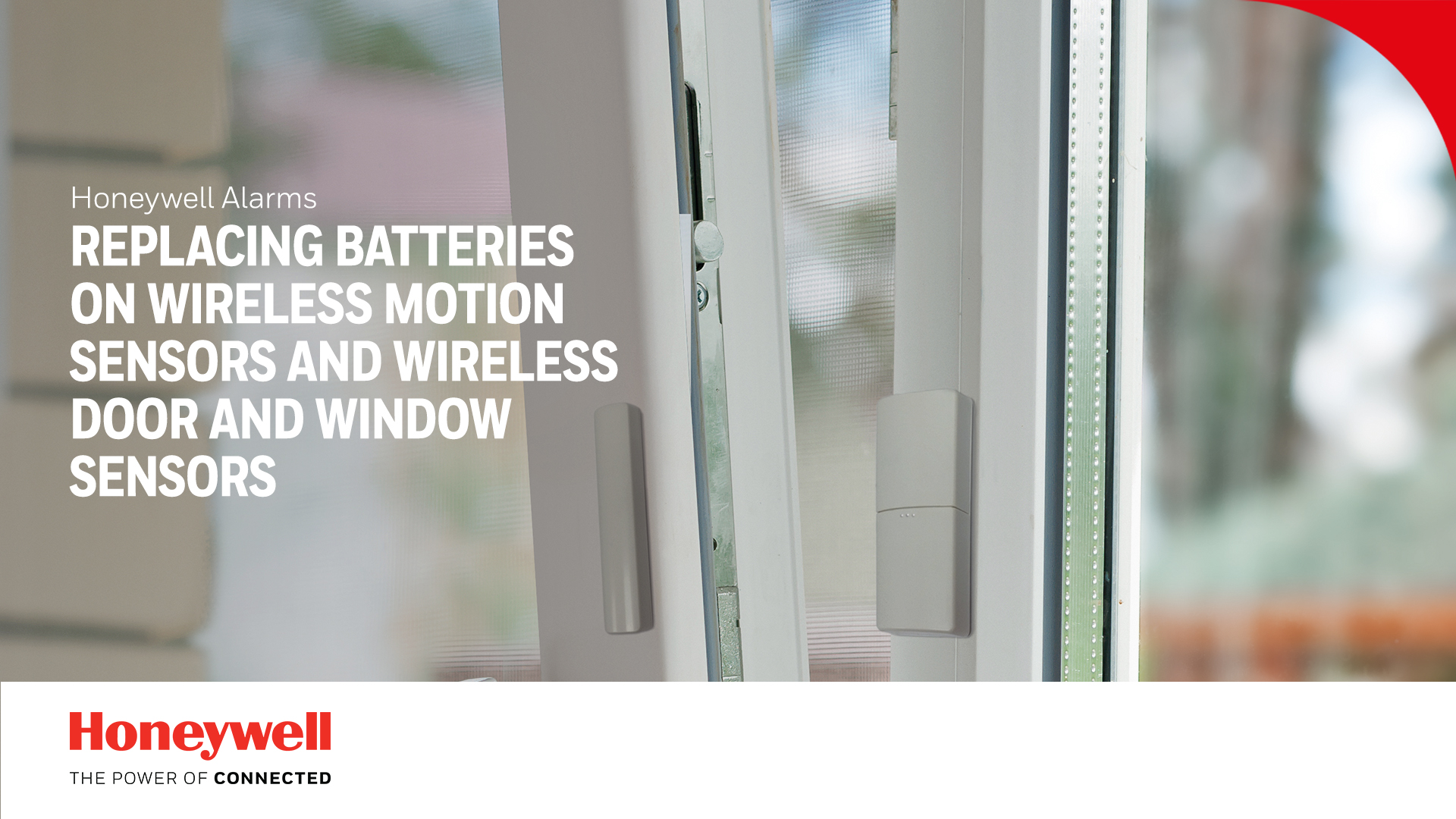 Replacing batteries on wireless motion, door and window sensors