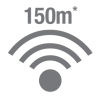 Up to 150m Wireless Range