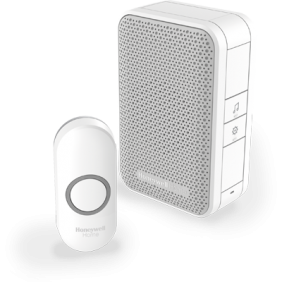 Wireless portable doorbell with push button – White