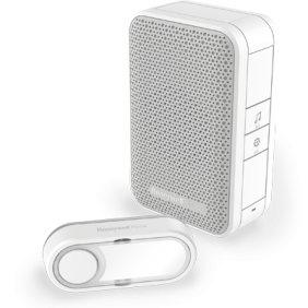 Bezprzewodowy przenośny dzwonek do drzwi z przyciskiem – biały