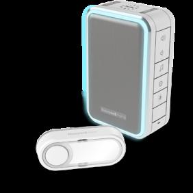 Campanello portatile senza fili con indicatore luminoso Halo e pulsante – Grigio