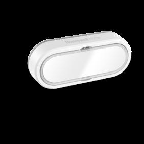 Funk-Klingeltaster mit Namensschild und LED-Funktionsanzeige, horizontal – Weiß