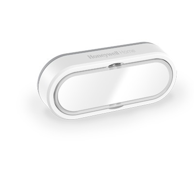Draadloze drukknop met naamplaatje en LED-indicatielampje – Horizontaal, wit