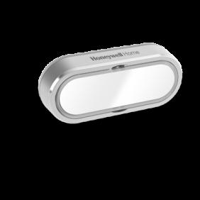 Funk-Klingeltaster mit Namensschild und LED-Funktionsanzeige, horizontal – Grau