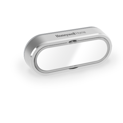 Bouton poussoir sans fil, porte étiquette et LED de confirmation – Paysage, Gris