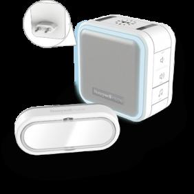 Campanello senza fili plug-in con funzione Sospensione, luce notturna e pulsante – Bianco