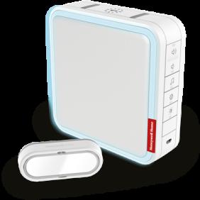 Draadloze draagbare deurbel met vergroot bereik, programmeerbare beltonen en drukknop – Wit