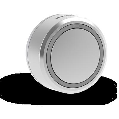 Pulsante senza fili con spia LED integrata – Circolare, Grigio
