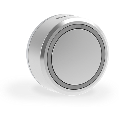 Draadloze drukknop  met LED-indicatielampje – Rond, grijs