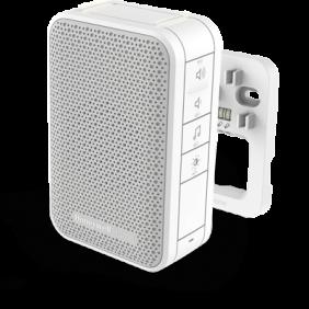 Campanello cablato con regolazione del volume e LED stroboscopico – Bianco