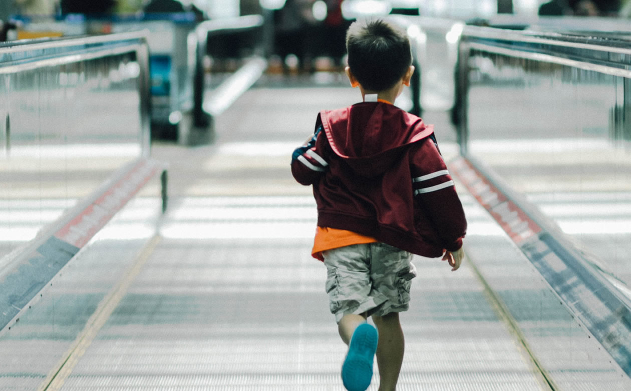 Location trackers are great for when travelling with children